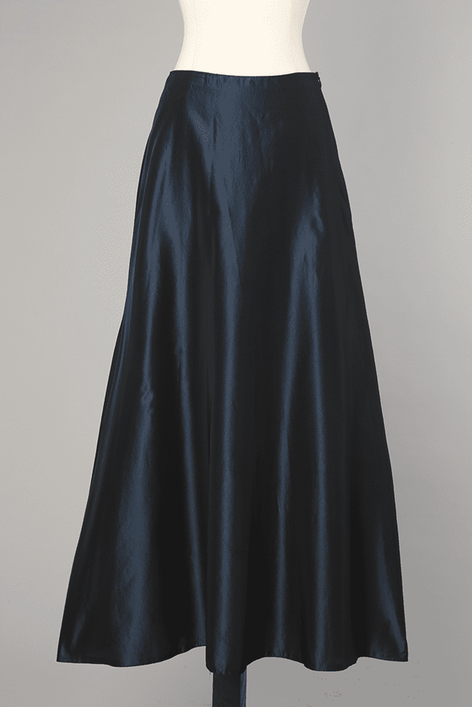 1950 Longue En Jupe Satin Bleu Nuit hdtsQCr