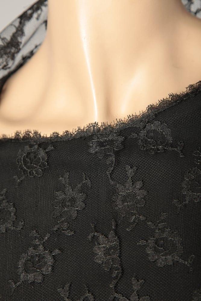 Griffée Balenciaga Dentelle Et Veste En Noire 1960 Robe zMVpUS