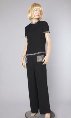 n2408_combinaison_pantalon_noire_poches_et_ceintures_en_strass_1980_taille40_pic001