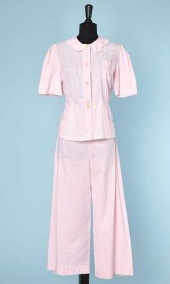 n5514_pyjama_coton_rose_1930_1940_taille_38_pic004