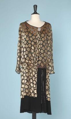 n5859_robe_velours_devore_noir_beige_1920_manches_longues_pic001