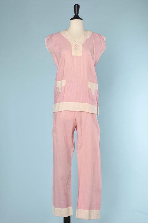 n5801_pyjama_coton_rose_ecru_monogramme_1920_taille_36_38_pic001