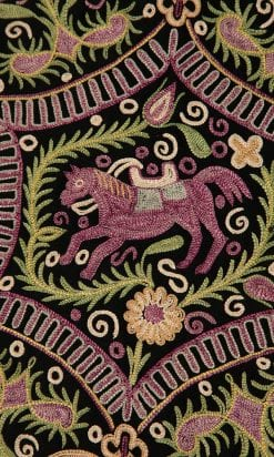 n4716_tapis_table_drap_laine_noire_brode_point_beauvais_oriental_pic001