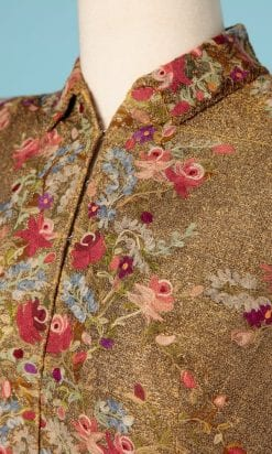 n6456_veste_lame_or_1940_brodee_point_chainette_multicolore_taille_38_40_pic001