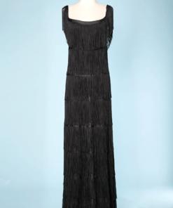 aef3db200d n7147- 1200e robe longue jersey noir franges loris azzaro taille 36 pic001-247x296.png