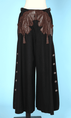 n7653_pantalon_lainage_noir_pattes_elephant_decoupes_cuir_marron_christian_dior_29716_38_26_04_18_roc_001