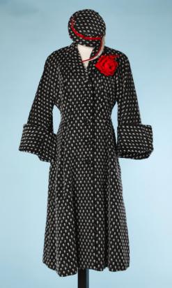 na4444-Manteau-et-chapeau-assorti-1940-50-en-lainage-gris-moucheté-blanc-t40-01.png