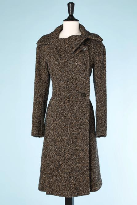 na4522-Manteau-1970en-lainage-marron-noir-écru-orange-chiné-Sonia-Rykiel-t38-01.png