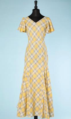 na4560-Robe-longue-1930-en-coton-blanc-à-carreaux-jaunes-et-gris-t34-01.png