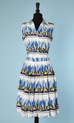 nA4742-Ensemble-1950-en-coton-blanc-imprimé-bleu-jaune-marine-dafricains-t38-01