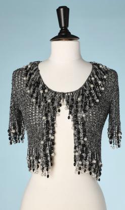 nA5169-Gilet-noir-et-lurex-argent-avec-perles-Loris-Azzaro-t36-01