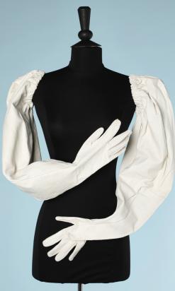 nA5215-Paire-longs-de-gants-en-cuir-blanc-faisant-manches-t6-34-01