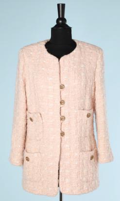 nA5779-Veste-Chanel-couture-en-lainage-tissé-rose-et-blanc-t40-01