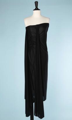 nA5214-Robe-bustier-longue-en-jersey-noir-plissé-Margiela-t42-01