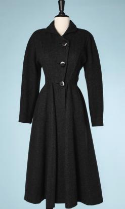 nA5240-Manteau-1940-1950-en-lainage-gris-à-godets-Maggy-Rouff-T36-01