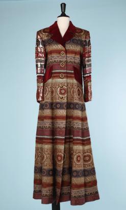 nA6133-Long-Manteau-Jacques-Fath-vintage-lainage-tissé-perles-et-paillettes-t40-01