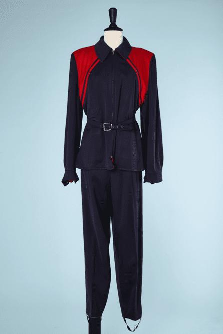 na6467-Ensemble-de-ski-1940-en-lainage-marine-et-rouge-t40-01