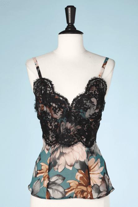 na7386-Débardeur-en-voile-bleu-imprimé-fleurs-et-dentelles-noirs-T3436-01