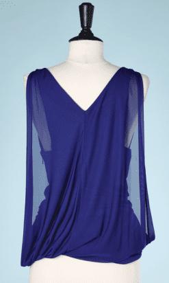 na7415-Tunique-en-rayonne-sans-manches-bleu-éléctrique-Versace-T36-01