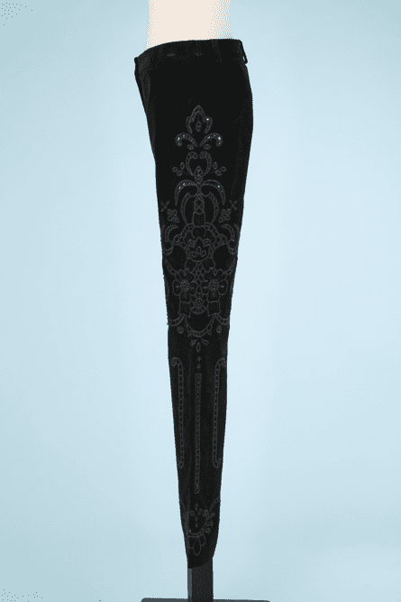 na7357-Pantalon-en-velours-noir-et-passementerie-Dolce-Gabanna-T38-01